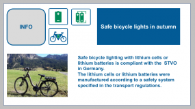 Bicycle lighting in autumn - safe in road traffic