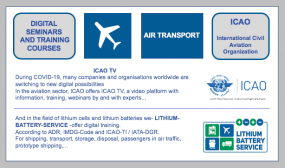 ICAO-TV - In the aviation sector, ICAO offers ICAO-TV, a video platform with information, training, webinars by and with experts...