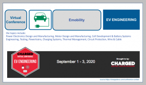 Virtual Conference on Electric Vehicle Engineering September 1 - 3, 2020