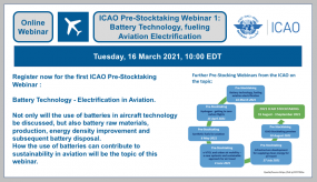 ICAO Pre-Stocktaking-Webinars and discussions of stakeholders for a greener future of aviation