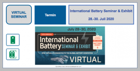 International Battery Seminar & Exhibit 28.-30. Juli 2020 VIRTUELL