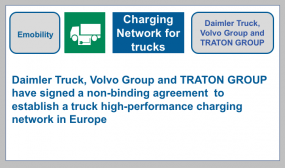 E-mobility - charging network not only for cars but also for trucks and coaches for more sustainable freight transport in the future.