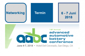 AABC Konferenz für fortschrittliche Automobil-Batterien - Advanced Automotive Battery Conference June 4-7, 2018 Hotel Del Coronado, San Diego, CA, USA