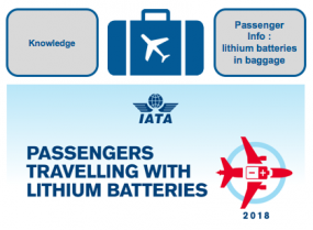 IATA Passenger Pamphlet on lithium batteries in baggage