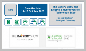 The Battery Show and Electric & Hybrid Vehicle Technology Expo at its new time: 14–16 October 2020.