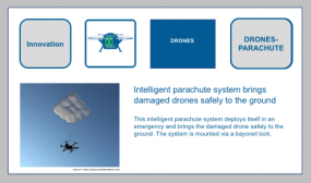 Drone and Multicopter Rescue with Smart Parachutes