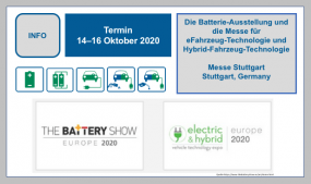 The Battery Show und The Electric & Hybrid Vehicle Technology Expo 14. bis 16. Oktober 2020