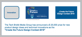 The Tech Briefs Media Group has announced a $ 20,000 prize for new product design ideas and technical innovations as the