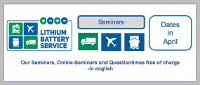 Our Online Seminars in April