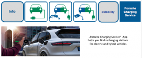 """""""Porsche Charging Service""""  App helps you find recharging stations for electric and hybrid vehicles"""