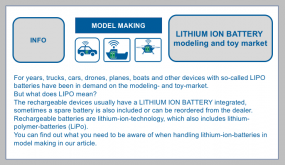 LITHIUM ION BATTERY  modeling and toy market